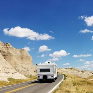 RV on the open road
